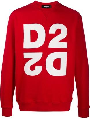 DSQUARED2 Graphic Logo-Print Sweatshirt