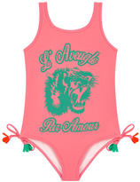 Gucci Graphic one-piece swimsuit with bobbles