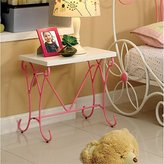 Furniture of America Ashley Fairy Tale Nightstand, Pink & White