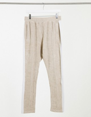 The Couture Club co-ord track trousers with contrast panel in beige