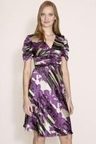Corey Lynn Calter Lianne Ruched Dress in Purple