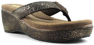Volatile Women's Sandals BRONZE - Bronze Chelan Croc-Embossed Sandal - Women