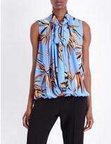 Emilio Pucci Bamboo-print silk sleeveless top