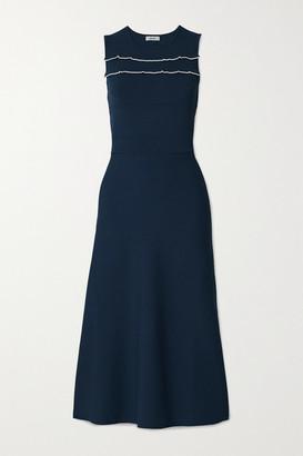Jason Wu Ruffled Stretch-knit Midi Dress - Navy