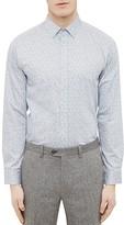 Ted Baker Mini Design Regular Fit Button Down Shirt