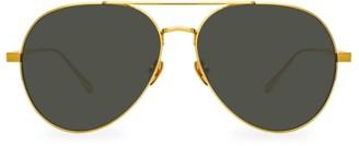 Linda Farrow 792 C2 Oversized Aviator Sunglasses