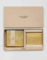 Lloyd Baker Metallic Leather Wallet And Card Holder Set
