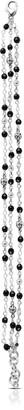 Lois Hill Sterling Silver 3 Wire Wrap Onyx Bracelet