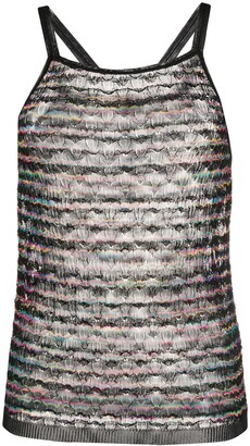 Missoni Striped Metallic-Knit Vest
