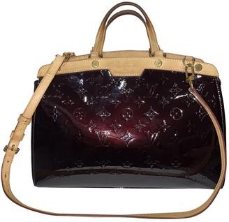 Louis Vuitton BrAa Burgundy Patent leather Handbags
