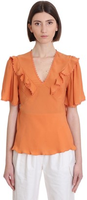 See by Chloe Blouse In Orange Cotton