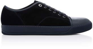 Lanvin Suede Cap-Toe Sneakers