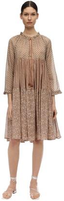 Yvonne S Cotton Voile Patchwork Dress