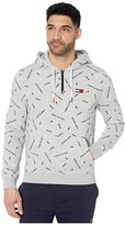 Tommy Hilfiger Adaptive Signature Pullover Hoodie (Metal Grey Heather/Multi) Men's Clothing