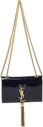 Saint Laurent Paris Black Patent Leather Small Kate Tassel Crossbody Bag