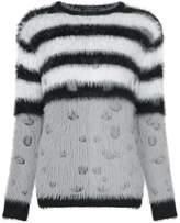 GUILD PRIME striped fluffy jumper