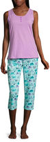 Asstd National Brand Capri Pajama Set