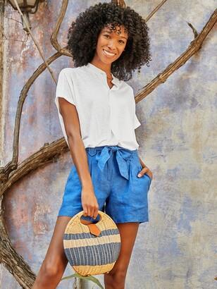 J.Mclaughlin Victoria Wicker Bag in Color Block