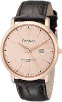 Armitron Men's 20/5012RGRGDB Date Function -Tone Dial Dark Brown Croco-Grain Leather Strap Watch