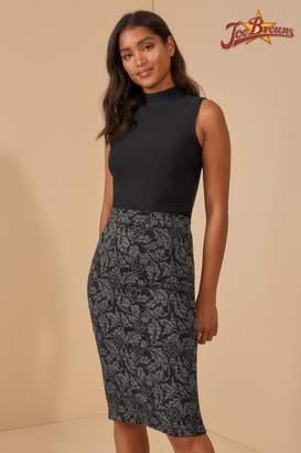 Joe Browns Womens Jacquard Pencil Skirt - Grey