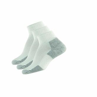 Thorlos Unisex JMX Running Thick Padded Ankle Sock White (3 Pack) Large