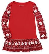 Burt's Bees Baby Toddler Snowflake Thermal Dress in Red