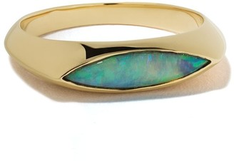 WWAKE 14kt Yellow Gold Opal Eyed Ring