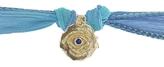 Catherine Michiels Mini Cosmic Eye Yellow Gold Charm & Silk Bracelet Wrap