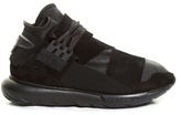 Y-3 Qasa High-top Leather And Suede Trainers