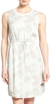Nordstrom &Darlington& Print Silk Sleeveless Drawstring Waist Dress