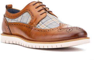 Vintage Foundry Men's Carlton Leather & Plaid Wing-Tip Oxfords