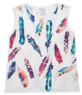 Chaser Toddler's, Little Girl's & Gilr's Flouncy Feathers Tank Top