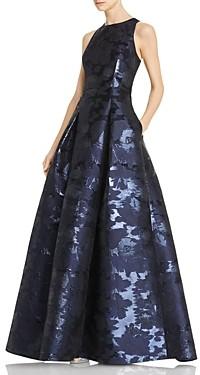 Aidan Mattox Sleeveless Jacquard Gown