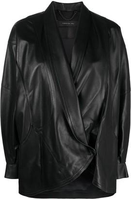 FEDERICA TOSI Oversized Leather Jacket