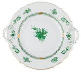 Herend Chinese Bouquet Chop Plate with Handles