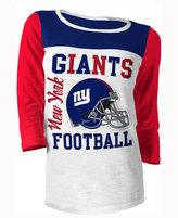 5th & Ocean Women's New York Giants Three-Quarter Glitter T-Shirt