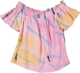 Flowers by Zoe Tie Dye Off-the-Shoulder Top, Size S-XL