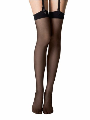 """Gipsy 1006 Smooth Knit stockings nearly black one size 5'0"""" - 5'8"""""""