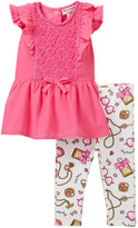 Juicy Couture Lace Tunic & Printed Legging Set (Baby Girls 0-9M)