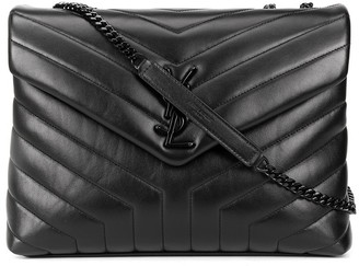 Saint Laurent Loulou quilted logo plaque bag