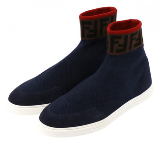Fendi Blue Suede Trainers