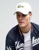 Lacoste Baseball Large Logo Cap In White
