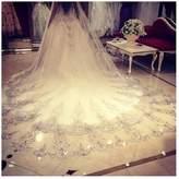 ElieHouse Women's Custom Made Sequins Chapel Wedding Bridal Veil With Free Comb Ivory E63IV