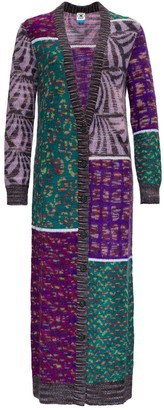 M Missoni Patterned Panels Knitted Long Cardigan