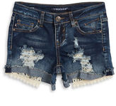 Vigoss Girls 7-16 Girls Lace Trimmed Ripped Front Shorts