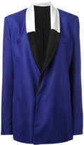 Haider Ackermann contrast shawl collar blazer - women - Silk/Cotton/Acetate/Viscose - 38