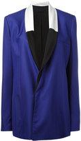 Haider Ackermann contrast shawl collar blazer