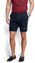 "Lands' End Men's 8"" Cutoff Casual Chino Shorts-Dark Cobalt Blue"