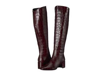 Sigerson Morrison Paislee (Dark Red Croc Print Leather) Women's Boots