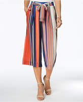 Jpr Petite Striped Wide-Leg Cropped Pants